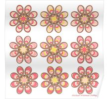Pink Fuchsia Foot Flowers Poster