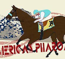 American Pharoah - Kentucky Derby 2015 by Ginny Luttrell