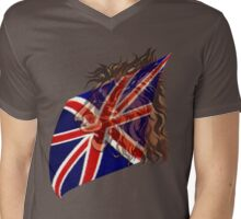 British Flag 'n' Lion Mens V-Neck T-Shirt