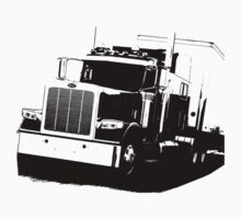 Semi Truck One Piece - Long Sleeve