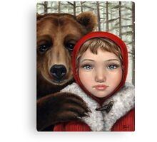 Masha and the Bear Canvas Print