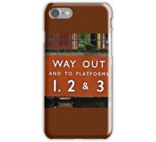 Way Out Sign iPhone Case/Skin