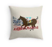 American Pharoah - Kentucky Derby 2015 Throw Pillow