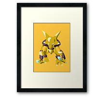Alakazam Pokemon Simple No Borders Framed Print