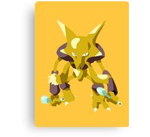 Alakazam Pokemon Simple No Borders Canvas Print