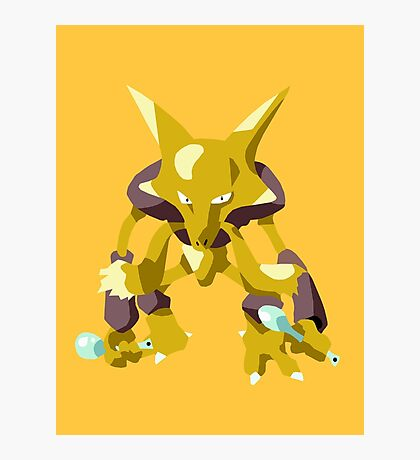 Alakazam Pokemon Simple No Borders Photographic Print
