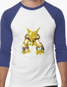 Alakazam Pokemon Simple No Borders Men's Baseball ¾ T-Shirt