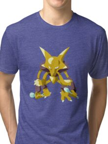Alakazam Pokemon Simple No Borders Tri-blend T-Shirt