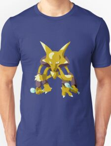 Alakazam Pokemon Simple No Borders Unisex T-Shirt