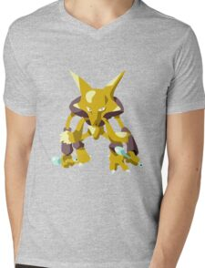 Alakazam Pokemon Simple No Borders Mens V-Neck T-Shirt