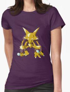 Alakazam Pokemon Simple No Borders Womens Fitted T-Shirt