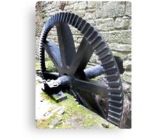 Old Wheel at Jesmond Dene Old Mill Metal Print