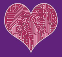 Digital Love Heart Printed Circuit Board Design by bexish