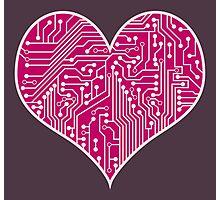 Digital Love Heart Printed Circuit Board Design Photographic Print
