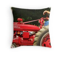 Tractors on Parade Throw Pillow