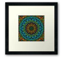 Blue Green Kaleidoscope 93 Framed Print