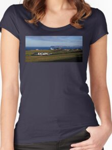 Ballintoy Delight Women's Fitted Scoop T-Shirt