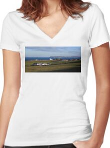 Ballintoy Delight Women's Fitted V-Neck T-Shirt