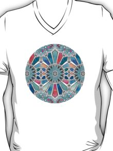 Iridescent Watercolor Brights on White T-Shirt
