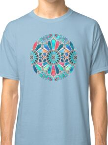 Iridescent Watercolor Brights on White Classic T-Shirt