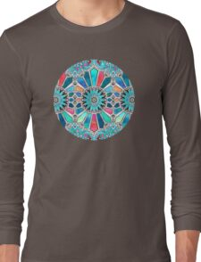 Iridescent Watercolor Brights on White Long Sleeve T-Shirt
