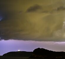 Storm Cell over the lion by Andrew Murrell
