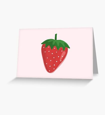 Little Strawberry Greeting Card