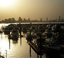 Sun setting across Kuwait  by Dana Kay