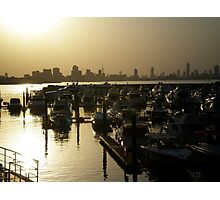Sun setting across Kuwait  Photographic Print
