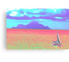 Psychedelic Sail Canvas Print