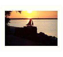 Sunset over Lake Ontario Art Print