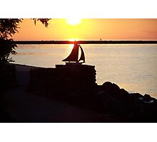 Sunset over Lake Ontario Photographic Print