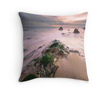 Green Rock Throw Pillow