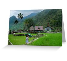 RICE TERRACES - PHILIPPINES Greeting Card
