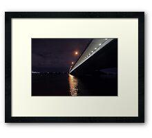 Under The Mount Henry Bridge  Framed Print
