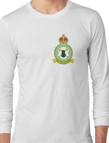 75(NZ) Squadron RAF Full Colour crest (small) Long Sleeve T-Shirt