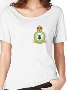 75(NZ) Squadron RAF Full Colour crest (small) Women's Relaxed Fit T-Shirt