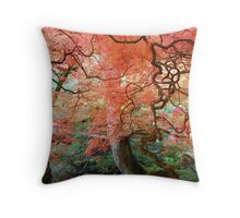 Autumn at Butchart Gardens Throw Pillow