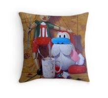 Friends #2: Pinocchio and Stimpy Throw Pillow