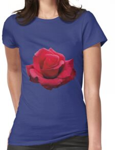 Watercolor Rose Womens Fitted T-Shirt
