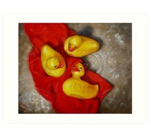 Three Rubber Ducks #2 Art Print