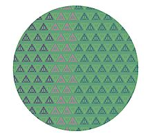 Deathly Hallows Pattern Photographic Print