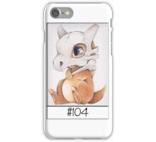 Cubone, lonely pokemon iPhone Case/Skin