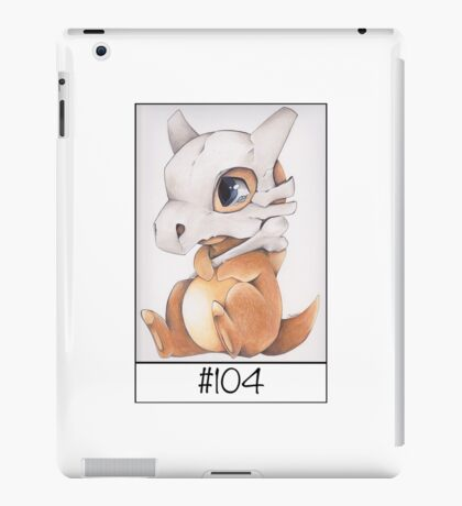 Cubone, lonely pokemon iPad Case/Skin