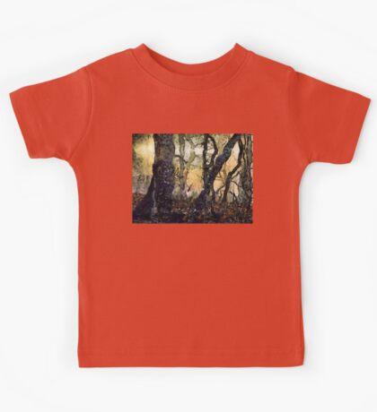 Dewey Dawn Wandering In Wistful Woods Kids Tee