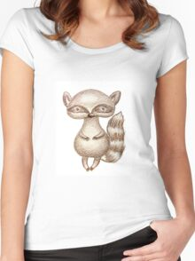 Cute Racoon Women's Fitted Scoop T-Shirt