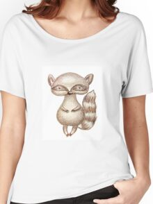 Cute Racoon Women's Relaxed Fit T-Shirt