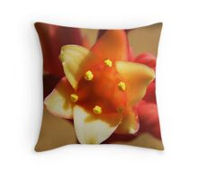 Red Yucca Throw Pillow