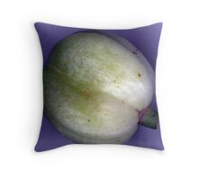 Do you recognize me? A daylily seedpod, solved by WalkerTouch in London. Throw Pillow