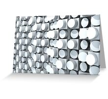 Wall of Cylinders 2.0 Greeting Card